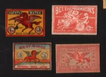 Patriotic Vintage match box labels Chinese or Japanese   #845